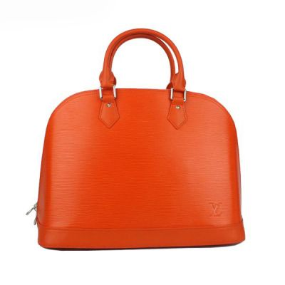 Fashion Orange Louis Vuitton EPI Leather Tote Bag Rounded Top Handles Good Price Hot Selling